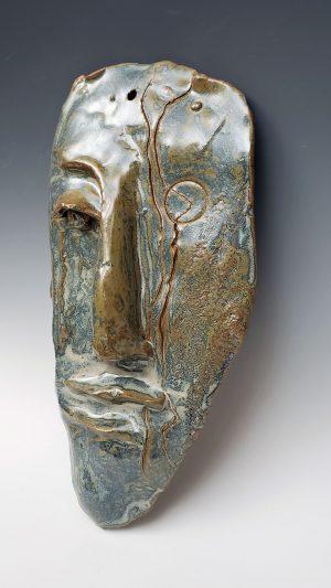 Stoneware face